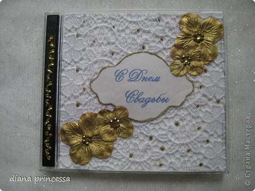 """коробочка для диска """"свадьба"""" фото 1"""