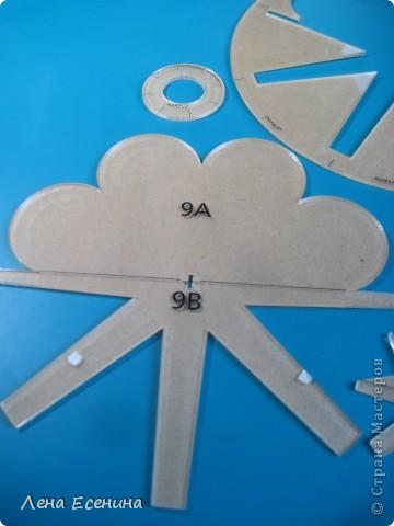 Удобные лекала на основе круга - из толстого оргстекла, с разметкой.  фото 2
