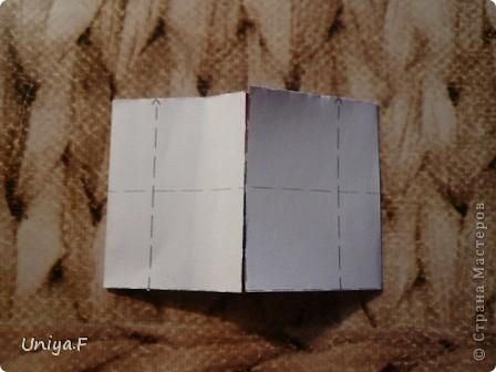 Опять я.  Модуль этой кусудамы получился, мягко говоря, странным. Но мне понравился. Если бы я могла предположить, что потом возникнут ассоциации с рыбками и плавниками, то и бумагу подобрала бы другую. А так уж, как получилось.  За предложенное название спасибо Маше Гуменюк.  Name: Delfino Designer: Uniya Filonova  Units: 30 Paper: 3,5*10,5 cm (1:3) Final height: ~ 9 cm  Joint: no glue фото 4