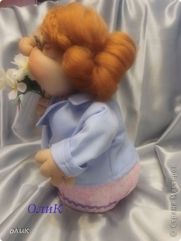 Кукла - торс  на бутылке. фото 4