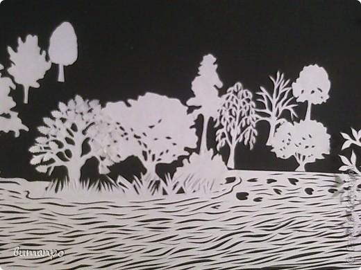 Картина панно рисунок Валентинов день День матери День рождения День семьи Бумажный туннель Вырезание Сказочный пейзаж   Бумага Картон Клей фото 5