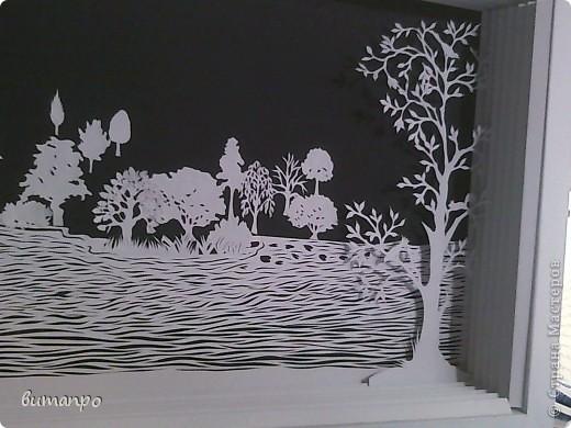 Картина панно рисунок Валентинов день День матери День рождения День семьи Бумажный туннель Вырезание Сказочный пейзаж   Бумага Картон Клей фото 7