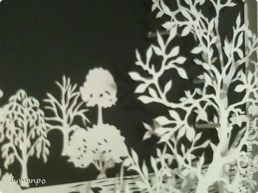 Картина панно рисунок Валентинов день День матери День рождения День семьи Бумажный туннель Вырезание Сказочный пейзаж   Бумага Картон Клей фото 10