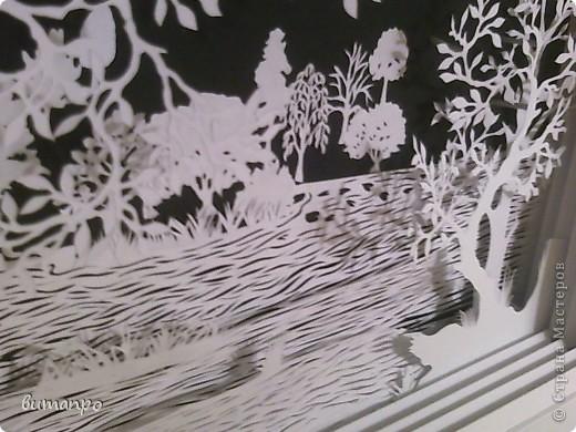 Картина панно рисунок Валентинов день День матери День рождения День семьи Бумажный туннель Вырезание Сказочный пейзаж   Бумага Картон Клей фото 11