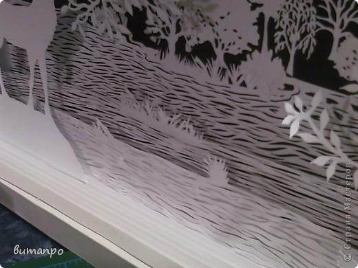 Картина панно рисунок Валентинов день День матери День рождения День семьи Бумажный туннель Вырезание Сказочный пейзаж   Бумага Картон Клей фото 12