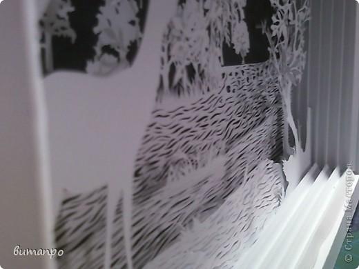 Картина панно рисунок Валентинов день День матери День рождения День семьи Бумажный туннель Вырезание Сказочный пейзаж   Бумага Картон Клей фото 14