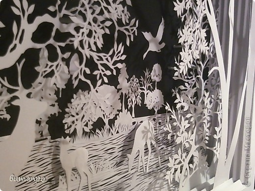 Картина панно рисунок Валентинов день День матери День рождения День семьи Бумажный туннель Вырезание Сказочный пейзаж   Бумага Картон Клей фото 15