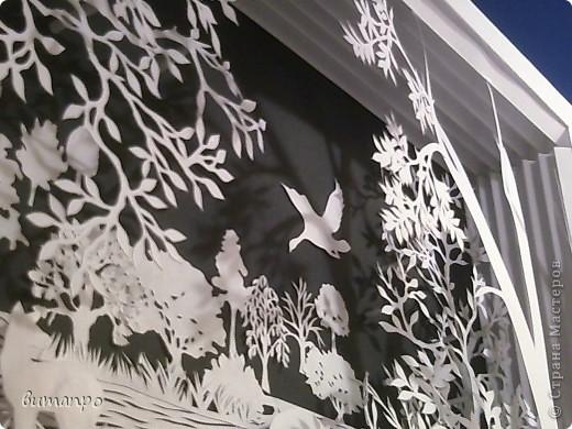 Картина панно рисунок Валентинов день День матери День рождения День семьи Бумажный туннель Вырезание Сказочный пейзаж   Бумага Картон Клей фото 16