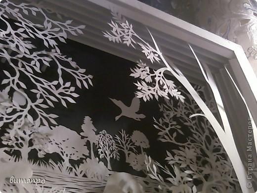Картина панно рисунок Валентинов день День матери День рождения День семьи Бумажный туннель Вырезание Сказочный пейзаж   Бумага Картон Клей фото 17