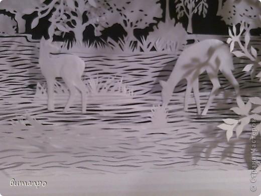 Картина панно рисунок Валентинов день День матери День рождения День семьи Бумажный туннель Вырезание Сказочный пейзаж   Бумага Картон Клей фото 18