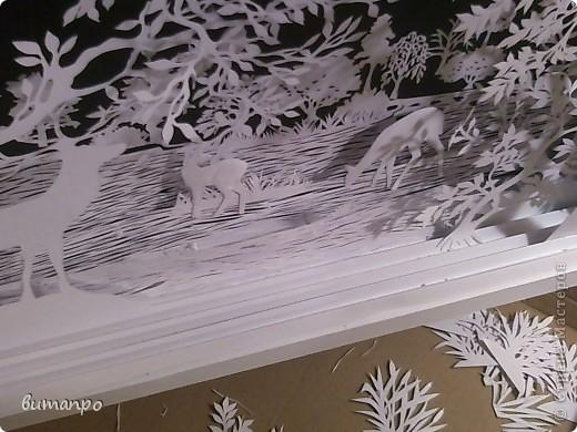 Картина панно рисунок Валентинов день День матери День рождения День семьи Бумажный туннель Вырезание Сказочный пейзаж   Бумага Картон Клей фото 19
