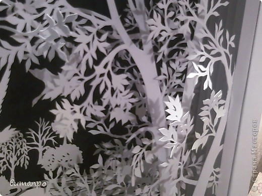 Картина панно рисунок Валентинов день День матери День рождения День семьи Бумажный туннель Вырезание Сказочный пейзаж   Бумага Картон Клей фото 22