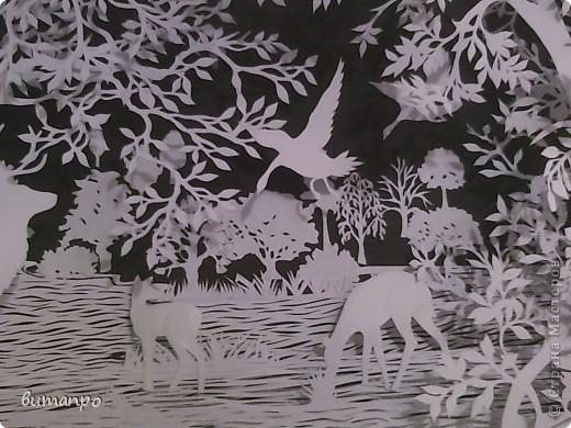 Картина панно рисунок Валентинов день День матери День рождения День семьи Бумажный туннель Вырезание Сказочный пейзаж   Бумага Картон Клей фото 23