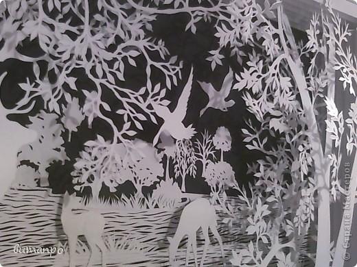 Картина панно рисунок Валентинов день День матери День рождения День семьи Бумажный туннель Вырезание Сказочный пейзаж   Бумага Картон Клей фото 24