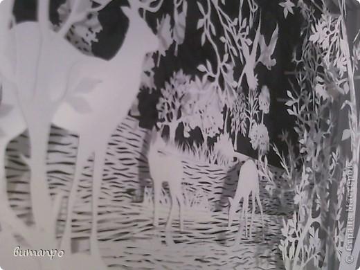 Картина панно рисунок Валентинов день День матери День рождения День семьи Бумажный туннель Вырезание Сказочный пейзаж   Бумага Картон Клей фото 25