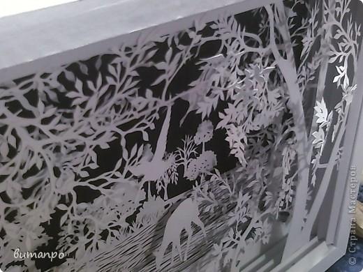Картина панно рисунок Валентинов день День матери День рождения День семьи Бумажный туннель Вырезание Сказочный пейзаж   Бумага Картон Клей фото 27