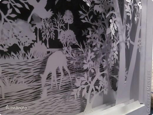 Картина панно рисунок Валентинов день День матери День рождения День семьи Бумажный туннель Вырезание Сказочный пейзаж   Бумага Картон Клей фото 31