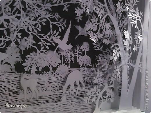Картина панно рисунок Валентинов день День матери День рождения День семьи Бумажный туннель Вырезание Сказочный пейзаж   Бумага Картон Клей фото 32