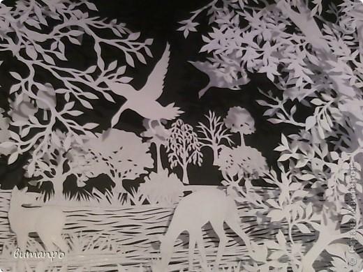 Картина панно рисунок Валентинов день День матери День рождения День семьи Бумажный туннель Вырезание Сказочный пейзаж   Бумага Картон Клей фото 46