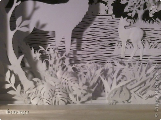 Картина панно рисунок Валентинов день День матери День рождения День семьи Бумажный туннель Вырезание Сказочный пейзаж   Бумага Картон Клей фото 49