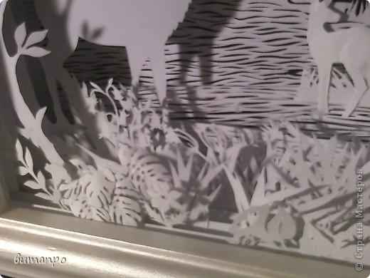 Картина панно рисунок Валентинов день День матери День рождения День семьи Бумажный туннель Вырезание Сказочный пейзаж   Бумага Картон Клей фото 50