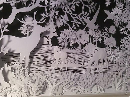 Картина панно рисунок Валентинов день День матери День рождения День семьи Бумажный туннель Вырезание Сказочный пейзаж   Бумага Картон Клей фото 54
