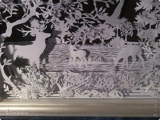 Картина панно рисунок Валентинов день День матери День рождения День семьи Бумажный туннель Вырезание Сказочный пейзаж   Бумага Картон Клей фото 55