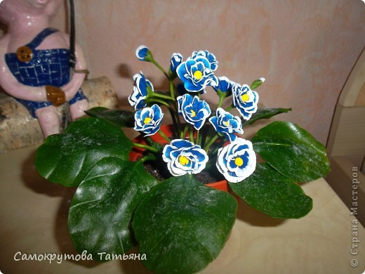 Здравствуйте,жители страны!Давно ничего не лепила,лето...вот добралась,воспользовалась МК Татьяны Родченко(цветы) и Ланы 58(листья)Большое им спасибо! фото 2