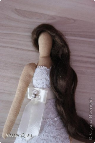 Вот такую невесту я сшила на свадьбу подруге) (жених в процессе) Хочу поделиться своим способом изготовления подобных кукол. Это мой первый мастер-класс поэтому не судите строго) фото 42