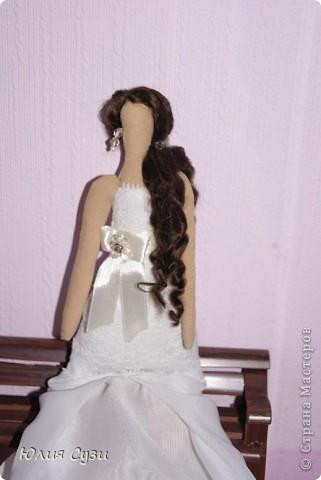 Вот такую невесту я сшила на свадьбу подруге) (жених в процессе) Хочу поделиться своим способом изготовления подобных кукол. Это мой первый мастер-класс поэтому не судите строго) фото 46
