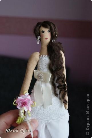 Вот такую невесту я сшила на свадьбу подруге) (жених в процессе) Хочу поделиться своим способом изготовления подобных кукол. Это мой первый мастер-класс поэтому не судите строго) фото 69