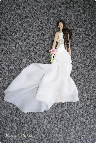 Вот такую невесту я сшила на свадьбу подруге) (жених в процессе) Хочу поделиться своим способом изготовления подобных кукол. Это мой первый мастер-класс поэтому не судите строго) фото 66