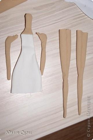 Вот такую невесту я сшила на свадьбу подруге) (жених в процессе) Хочу поделиться своим способом изготовления подобных кукол. Это мой первый мастер-класс поэтому не судите строго) фото 5