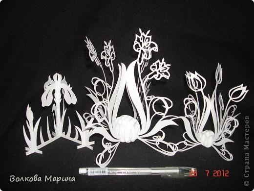 Вот такие цветочки у меня выросли из бумаги. фото 2