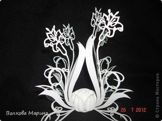 Вот такие цветочки у меня выросли из бумаги. фото 7