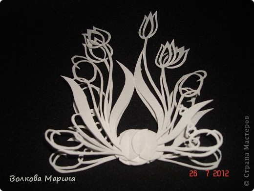Вот такие цветочки у меня выросли из бумаги. фото 15