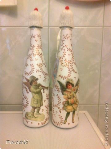 МК по декору бутылочки за 30 минут (быстрый подарок) фото 1