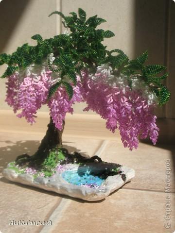 Всем здравствуйте,дорогие жители страны. Воодушевленная вашим творчеством,решила попытаться сделать дерево из бисера,и вот,что получилось.Результатом осталась довольна. фото 2