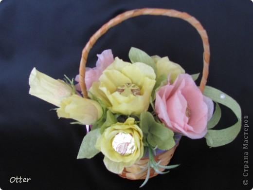 Мои первые конфетные цветы.  фото 2