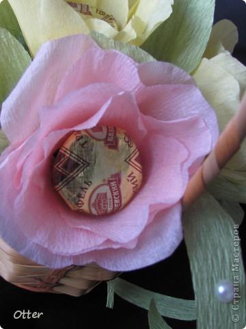 Мои первые конфетные цветы.  фото 1