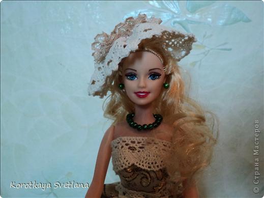 """Вот и еще кукла - шкатулка. В основе сама кукла, стакан из под сметаны, картон, синтепон (это невидимая часть """"айсберга""""), ткань, кружева, бусины. Работа по принципу шкатулки-тыквы (показывала раньше в работах). Мне так легче делать. фото 6"""