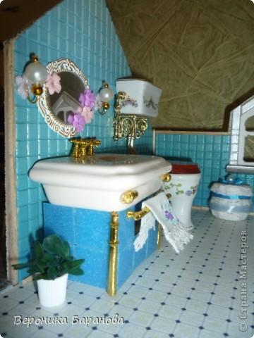 Ванная комната в самодельном домике. Пока дом без крыши. Етот интерьер пока что единственный доведеный до конца, до мелочей. Начинаем экскурсию! фото 4