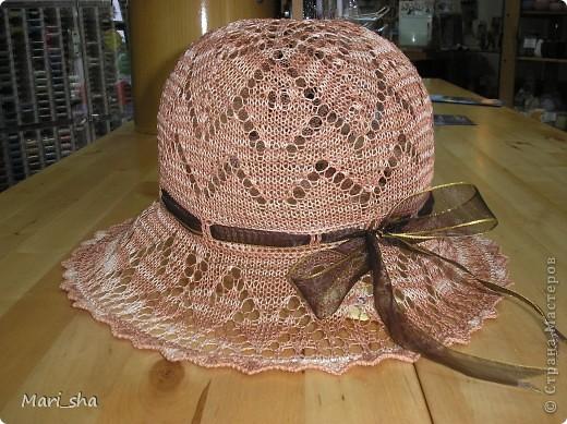 Летняя шляпка Пряжа фото 1