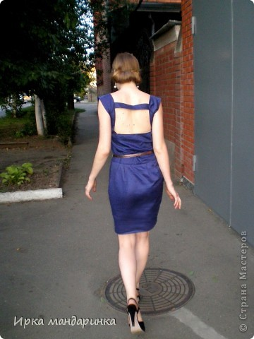 Вот такое платье  решила сделать для офиса. Работаю я геологом, но в командировки не езжу, т.к. работа в основном сидячая. И при всем при этом очень ответственная. А красивой хочется всегда быть.  фото 3