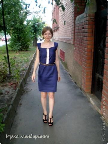 Вот такое платье  решила сделать для офиса. Работаю я геологом, но в командировки не езжу, т.к. работа в основном сидячая. И при всем при этом очень ответственная. А красивой хочется всегда быть.  фото 2