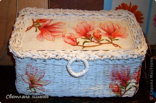 Очередную плетеную корзинку решила дополнить сладким букетом.Маме на день Рождения. фото 8