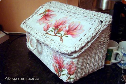 Очередную плетеную корзинку решила дополнить сладким букетом.Маме на день Рождения. фото 5