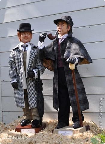 куклы Шерлок Холмс и Доктор Ватсон фото 1