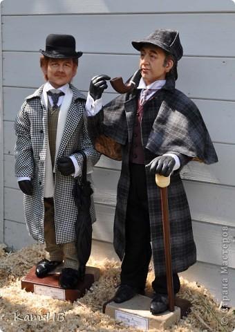 куклы Шерлок Холмс и Доктор Ватсон фото 3