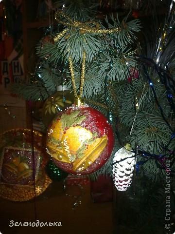 Хочу поделиться с вами новогодними поделками))) Получилась у меня серия елочных игрушек, винтажных  по моему))) фото 9